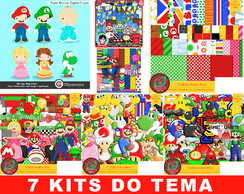 Kit Digital Super Mario World Papel Fundo Personagem