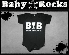 Body ou Camisetinha Baby In Black