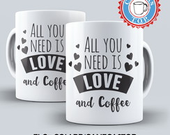 Caneca Love and Coffee