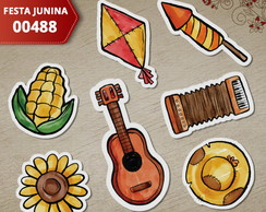 Aplique Festa Junina 3cm (Kit c/ 50un) - 00488