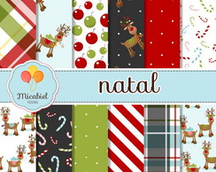 Papel Digital - Natal (rudolph)