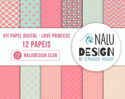 KIT PAPEL DIGITAL - LOVE PRINCESS