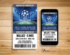 CONVITE DIGITAL CHAMPIONS LEAGUE INGRESSO