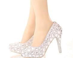 817b023d5 ... Sapato de Debutante Prata personalizado