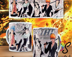 Caneca Anime Bleach Personagens