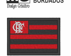 Patch Bordado Termo Colante - Bandeira do Flamengo