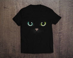 Camiseta Black Cat Gato Preto