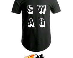 Camiseta long line unissex SWAG