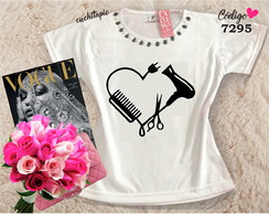 Baby look Customizada - Cabeleireira