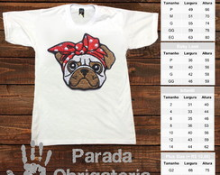 Camiseta Cachorrinho Pug