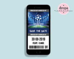 Convite Save the Date Champions League Estádio W - DIGITAL