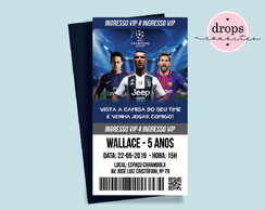 Convite Ingresso Champions League CristianoR - DIGITAL