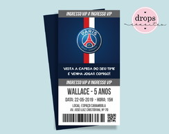 Convite Ingresso PSG PARIS SAINT-GERMAIN - DIGITAL