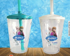 Copo twister Frozen - 500 ml