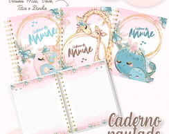 Caderno Pautado Dia das Mães Cute - Kit Digital