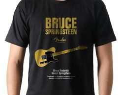 Camiseta Rock Bruce Springsteen Guitarra Fender Custom Tele