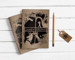 Caderno Artesanal Kraft - Game of Thrones
