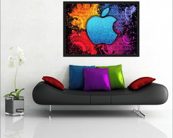 Quadro Decorativo Steve Jobs Apple Com Moldura T006