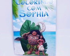 Kit Revistinha de colorir Moana