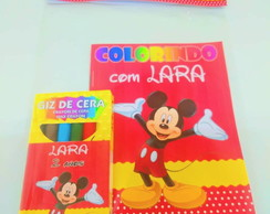 Kit Colorir com Giz - Mickey