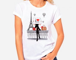 T-shirt Feminina Paris