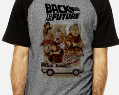 Camiseta Raglan De Volta para o Futuro Back to the Future 26