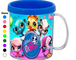Kit 30 Canecas Personalizadas Littlest Pet Shop
