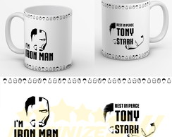 Caneca I'm Iron Man Rest in Peace Tony Stark - R.i.P