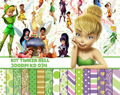 Kit Digital Scrapbook Tinker Bell Sininho