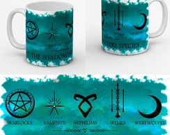 Caneca Serie Shadowhunters Simbolo Todas As Especies