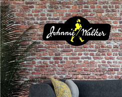 Placa Luminoso Letreiro 3D Luminoso Johnnie Walker