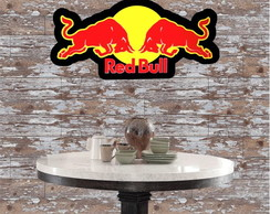 Placa Luminoso Letreiro 3D Luminoso Red Bull