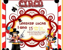 Convite Virtual Circo do Mickey