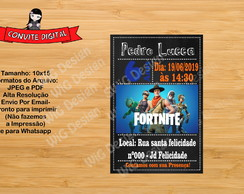 CONVITE DIGITAL FORTNITE ARTE DIGITAL
