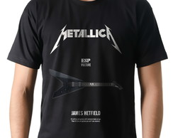 Camiseta Rock Metallica Guitarra ESP Vulture James Hetfield
