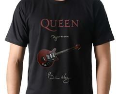 Camiseta Camisa Banda Rock Queen Guitarra Brian May