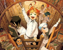 Big Poster Anime The Promised Neverland LO08 90x60 cm