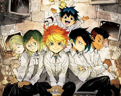 Big Poster Anime The Promised Neverland LO12 90x60 cm