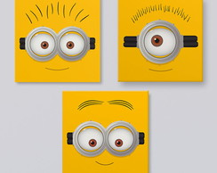 Minions- Placas decorativas 20x20cm