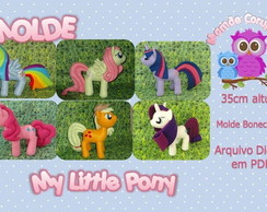 Molde do My Little Pony em feltro