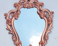 Espelho Decorativo Antique Rose Gold