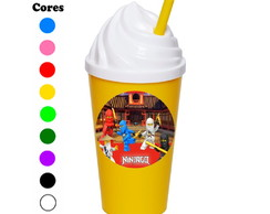 Kit 30 Copos Chantilly 350 ml Ninjago
