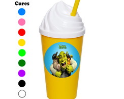 Kit 30 Copos Chantilly 350 ml Shrek