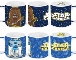 Caneca Star Wars - Chewbacca / R2-d2