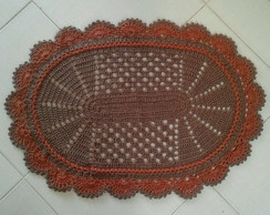 Tapete oval Croche