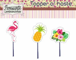 Topper Flamingo Abacaxi