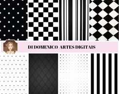 KIT PAPEL DIGITAL - PRETO E BRANCO