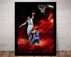 Poster Decorativo Basquete