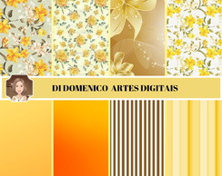 KIT PAPEL DIGITAL - FLORES AMARELAS