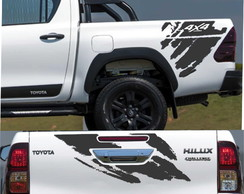 Kit Adesivo Toyota Hilux SR Challenge Lateral Traseira a176